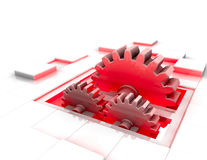 Red gear Stock Image