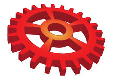 Red gear Royalty Free Stock Images