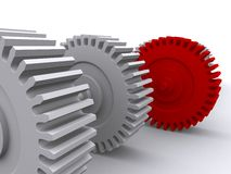 Red gear Royalty Free Stock Photos