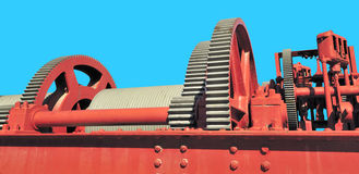 Red gear assembly Royalty Free Stock Photos
