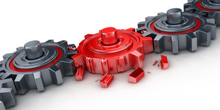 Red gear Royalty Free Stock Image