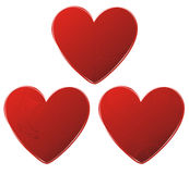 Red gear hearts set Stock Image