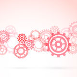 Red gear modeling background template Royalty Free Stock Image