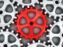 Red gear part Royalty Free Stock Image