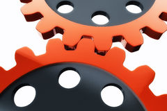 Red gear wheels Stock Image