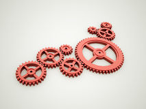 Red gears concept Royalty Free Stock Photo