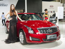 Red geely ats car Royalty Free Stock Photo