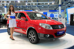 Red Geely MK Cross Royalty Free Stock Images