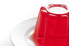 Red gelatin Royalty Free Stock Photo