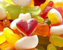 Red gelatin heart Stock Photos