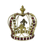 Red Gem Embellished Crown Stock Photos