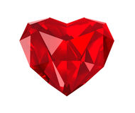 Red gem heart Royalty Free Stock Photos