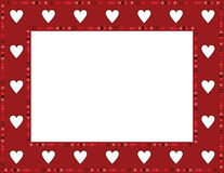 Red Gem Heart Frame Royalty Free Stock Photo