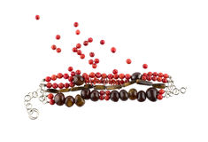 Red gemstone bracelet Stock Photo