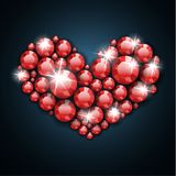 Abstract gemstone heart illustration Royalty Free Stock Image