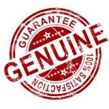 Red genuine stamp Stock Image