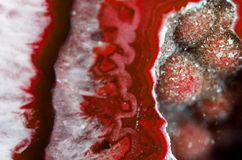 Red Geode Macro Royalty Free Stock Image