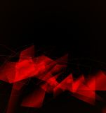 Red geometric abstract background Stock Photography