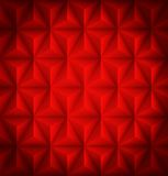 Red Geometric abstract low-poly paper background Stock Photography