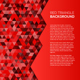 Red geometric background with triangles Stock Photo