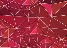 Red Geometric background with wire frame. Pink & Red based 3d geometric design. Great color for valentines & romantic designs as well as Christmas and almost Stock Illustration