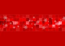Red geometric Christmas background Royalty Free Stock Photos