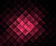 Red geometric fractal Royalty Free Stock Photo