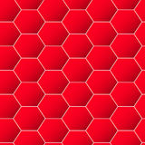 Red geometric hexagon background seamless pattern Royalty Free Stock Photography