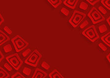 Red geometric paper abstract background Royalty Free Stock Images