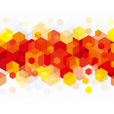Red Geometric Pattern Stock Image
