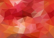 Red Geometric Pattern royalty free illustration