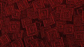 Red Geometric Pattern Youtube Channel Art Banner. 2560 x 1440, Textured Fabric Pattern stock photos