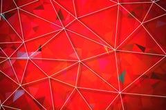 Red geometric rumpled triangular Royalty Free Stock Photo