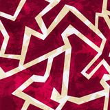 Red geometric seamless pattern with grunge effect Royalty Free Stock Image