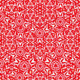 Red geometric seamless pattern Stock Images