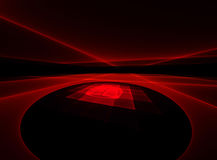 Red geometric surface Stock Photography