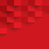 Red geometric vector background. Stock Image