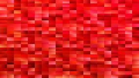Red geometrical mosaic rectangle background - modern vector design Stock Images