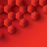 Red geometry background. Stock Photo