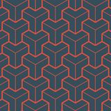 Red Geometry Pattern royalty free illustration