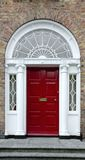 Red Georgian door Royalty Free Stock Photos