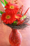 Red gerbera bouquet Stock Images
