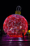 Red giant bauble. Lisbon. Portugal Stock Photo