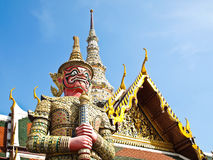 The Red Giant at The Grand Palace , Thailand Royalty Free Stock Photography