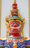 The red giant guardian is design from Thai literature. Stock Photos