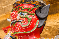 Red Giant Guardian in Wat Phra Kaew temple ,bangkok,thailand Royalty Free Stock Photography