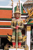 Red Giant Guardian in Wat Phra Kaew temple Royalty Free Stock Image
