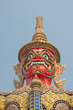 Red Giant's face in Wat pra keaw Stock Photos