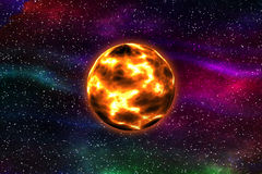 Red Giant Star. Imaginary Representation of a Red Giant Star Royalty Free Stock Photography