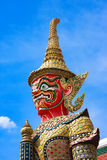 Red giant statue at Wat Phra Kaew, Thailand Stock Images